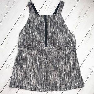 Nike black & white swim tankini top
